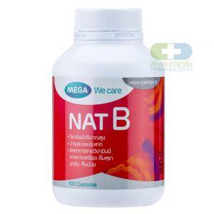 Mega NAT B วิตามินบี (40เม็ด)