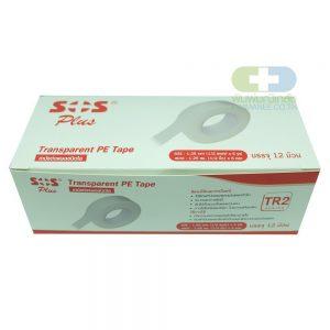 SOS TR2 1/2 นิ้ว 5 หลา (กล่อง 12ม้วน)