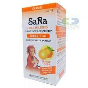 SARA ซาร่า เด็ก 250มก รสส้ม 60มล.